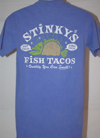 Men's Stinky's Fish Tacos - Light Blue T-Shirt