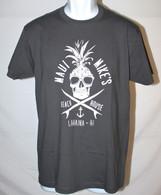 Men's Maui Mike's Pineapple Skull - Grey T-Shirt