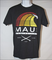 Men's Maui Rainbow Surf - Black T-Shirt