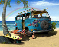 VW Flower Bus Cruiser Art