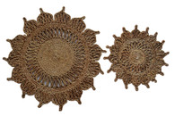 Natural Jute Flower Trivets (Set of 2)
