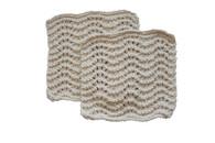 Certified Organic Cotton Wave Scrub Cloth (Set of 2)