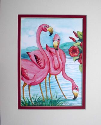 flamingo 8x10 print