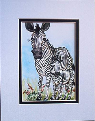 zebra mom matted