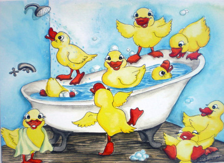 duck tub card