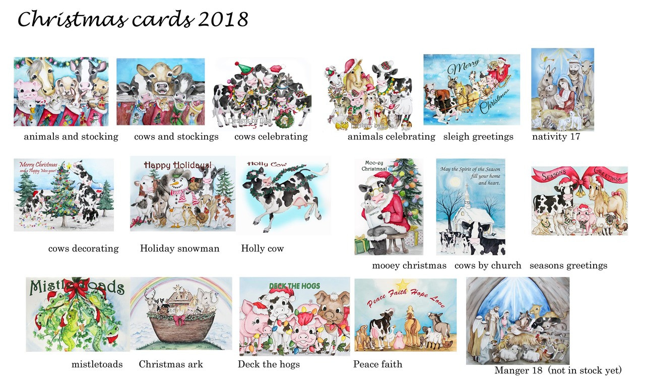 Christmas cards - Udderly Delightful Designs