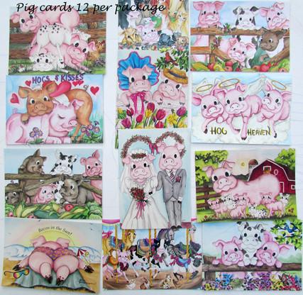 pig card assortment