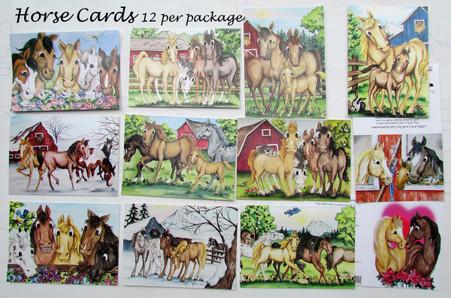 horse card assortment 12