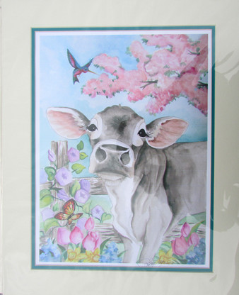 Brown swiss with flowers