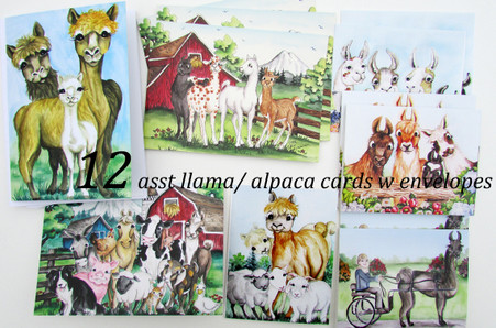 llama and alpaca cards