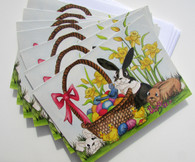 set of 7 Easter cards blank