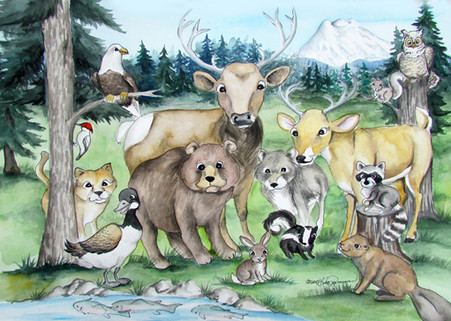 forest animal card