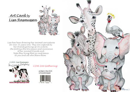 zoo animals in grey and pink