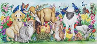all the small animals gathered together for spring