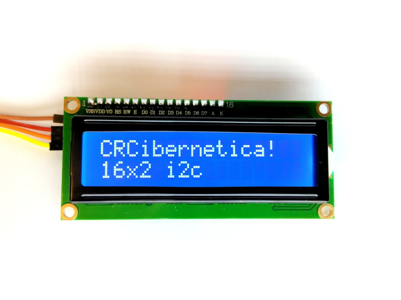 16x2 LCD with i2c (Blue)