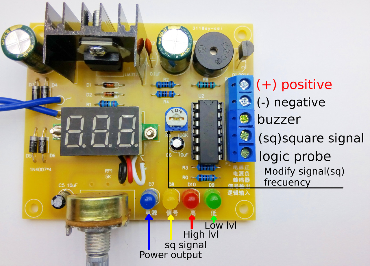 Lm317 Adjustable Voltage Power Supply Kit Crciberntica Variable Regulator With Lm317t Electronic Circuit Schematic Price 1495 Image 1 Larger More Photos