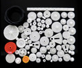 81 pcs White Plastic Gear Kit