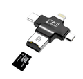 Multiple USB Card Reader , 4 IN 1 (Iphone, Micro, SD , Type C )
