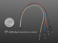 STEMMA QT / Qwiic JST SH 4-pin to Premium Male Headers Cable - 150mm