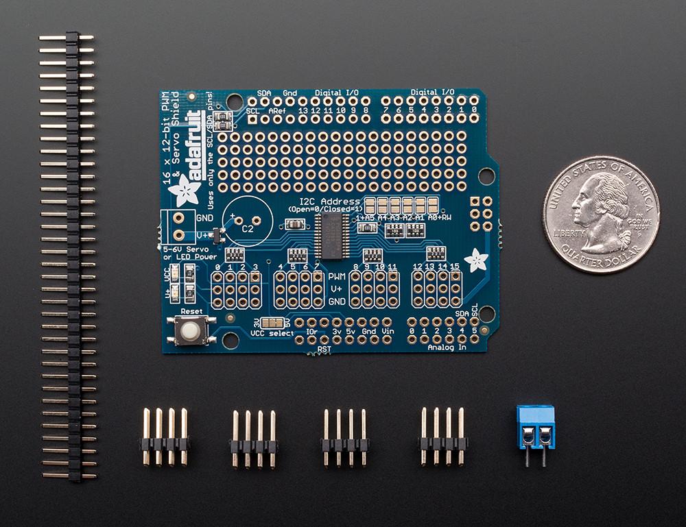 Adafruit 16-Channel 12-bit PWM/Servo Shield - I2C interface