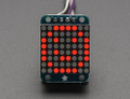 "Adafruit Mini 0.8"" 8x8 LED Matrix w/I2C Backpack - Red"