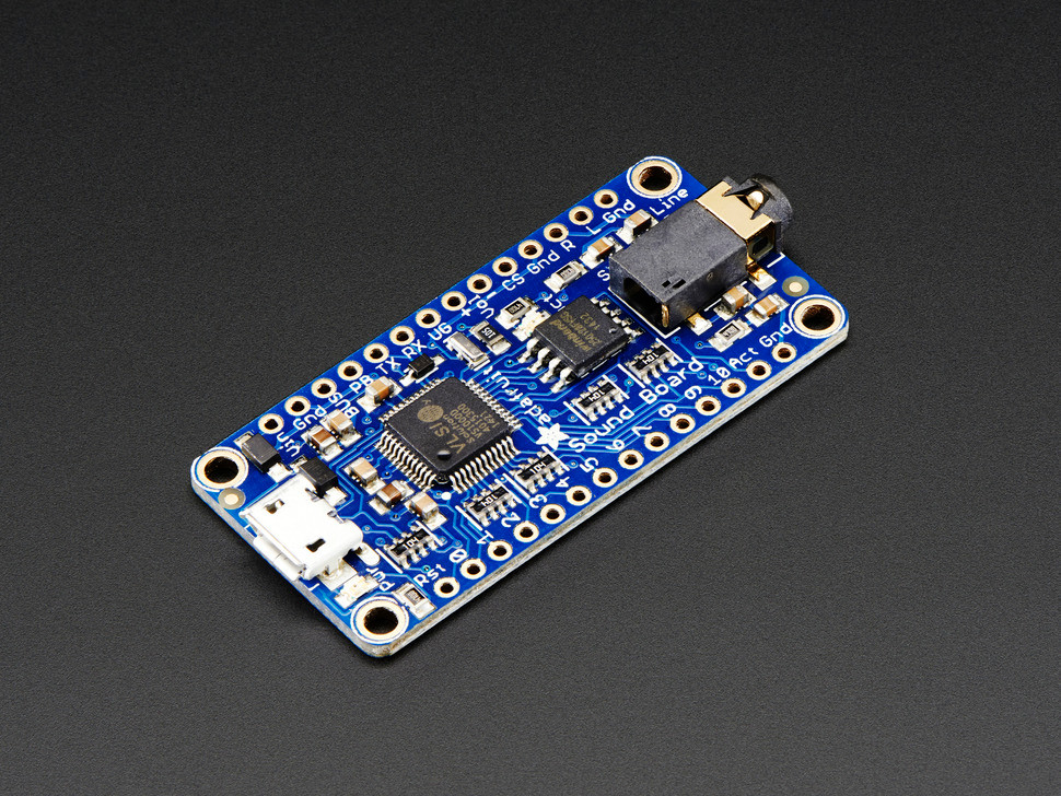 Adafruit Audio FX Sound Board - WAV/OGG Trigger with 16MB Flash