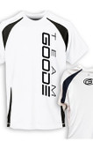 Men's Poly Tee White/Black Team GOODE