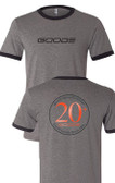 Men's Ringer Tee Grey/Black 20+ Years GOODE