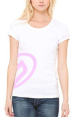 Women's Scoop Tee White with Pink Team GOODE