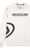 Sun Hoodie White with Black GOODE Logo