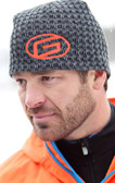 Carbon Weave Beanie Hat with Orange G Logo