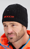 Black Beanie Hat with Orange GOODE Logo