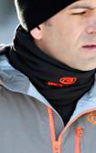 Black  Neck Gaiter with Orange GOODE Logos