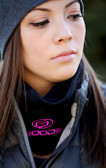 Black  Neck Gaiter with Pink GOODE Logos