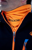 Orange  Neck Gaiter with Black GOODE Logo