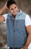 Double Diamond Vest Grey with Orange GOODE Logo Front & Back