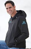 Double Diamond Softshell Black with Teal GOODE Logos