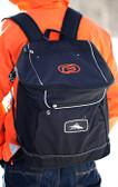 Black Backpack with Orange G Logo