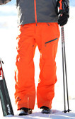 Flylow Ski Pant - Orange with GOODE Logo
