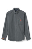 Grey Dress Shirt with Orange G Logo on the Front