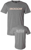 Men's Fitted T-Shirt Gray with White GOODE Logo