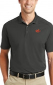 "Men's Grey Poly Polo Orange ""G"" Logo"