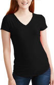 Women's Black Poly V Neck Shirt (GOODE on back)