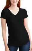 Women's Black Poly V Neck Shirt (GOODE on back)