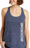 Women's Blue Twisted Back Tank Top