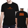 "Fitted T-Shirt Black with Orange ""It's all Goode"""