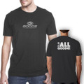 "Fitted T-Shirt Dark Grey with White ""It's all Goode"""