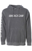 GOODE Gray Pullover Hoodie Sweatshirt with Waterski Logo Sleeve