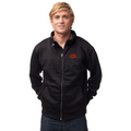 Poly Sport Jacket w Zip off Hood  Black with Orange GOODE logo