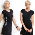 T-Shirt Dress Black with White GOODE logo